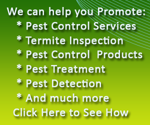 Advertise your Pest Control Product or Service